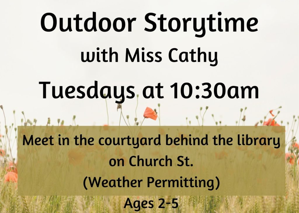 This image has an empty alt attribute; its file name is Outdoor-Storytime-with-Miss-Cathy-1024x731.jpg